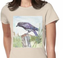 Coco on the fencepost Womens Fitted T-Shirt