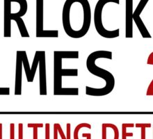 Sherlock Holmes Street Sign Sticker