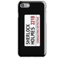 Sherlock Holmes Street Sign iPhone Case/Skin