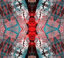 Aquatic Lace 7 by MSRowe Art and Design