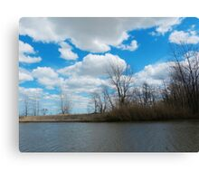 Estuary in Early Spring 3 Canvas Print