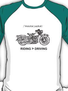 Motorcycle Cruiser Style Illustration T-Shirt