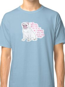 Sassy Pug Classic T-Shirt