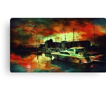 Hull Marina Canvas Print