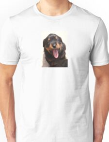 Cute Rottweiler Puppy With Tongue Out Unisex T-Shirt