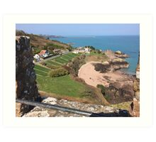 St Catherine's from Gorey Castle, Jersey Art Print