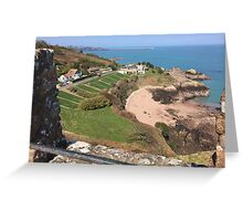 St Catherine's from Gorey Castle, Jersey Greeting Card