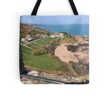 St Catherine's from Gorey Castle, Jersey Tote Bag