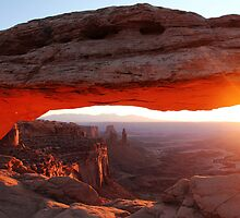 Mesa Arch Sunrise- Canyonlands, Utah by Mike Valigore