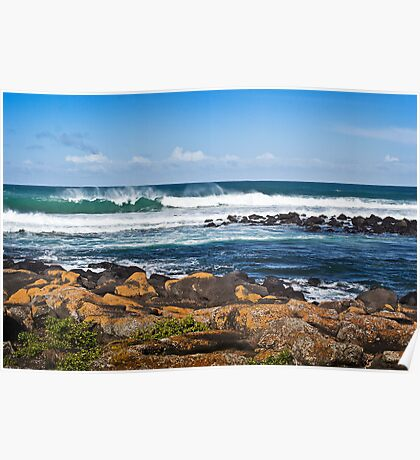 Wind, Waves and Rocks Poster