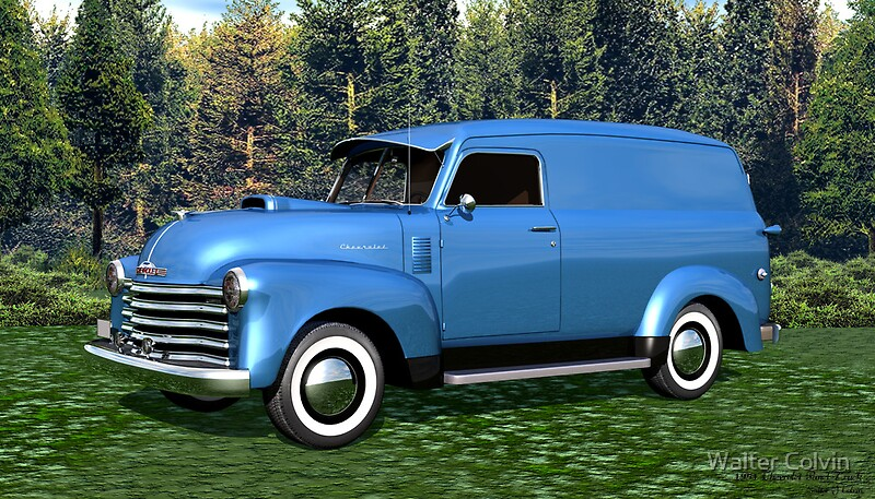 1951 chevrolet panel truck quot by walter colvin redbubble