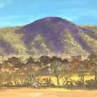 Deua Range from Araluen Heights by Glenda Jones