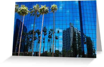 San Diego Reflections in a Blue Sky by Heather Friedman