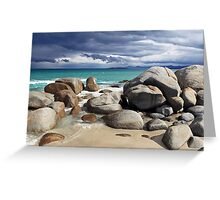 Beach Boulders- Tasmania Greeting Card