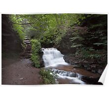 Upper Tier of Mohican Falls Poster