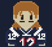 8Bit Tom Brady 3nigma NFL T-shirt by CrissChords