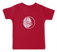 Bull Emblem In White Kids Tee