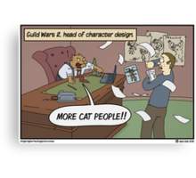 Guilds! Guilds everywhere! Also cats. Canvas Print