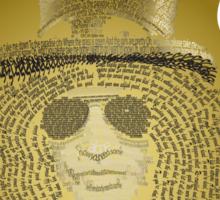 Slash Text Art Sticker