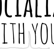 can I socialize with your dog? Sticker