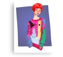 Ugly Sweater Lady Canvas Print