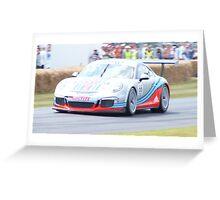 Porsche Racing Car at Goodwood Greeting Card