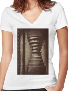 Equipment at Whale World ... #01  Women's Fitted V-Neck T-Shirt