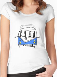 VW Camper Kids Women's Fitted Scoop T-Shirt