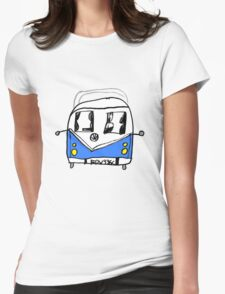 VW Camper Kids Womens Fitted T-Shirt