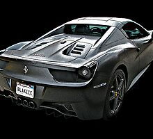 Ferrari 458 Italia in Matte Black Finish by Samuel Sheats