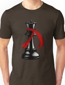 Black Chess Queen with a Fashion Scarf Unisex T-Shirt