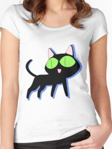 trigun cat Women's Fitted Scoop T-Shirt