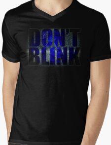 Don't Blink - Dr Who Weeping Angels T-shirt Mens V-Neck T-Shirt
