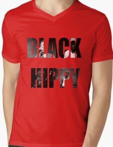 Black Hippy Mens V-Neck T-Shirt