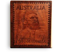 PYROGRAPHY: Australian Stamp 1950 Canvas Print