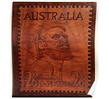PYROGRAPHY: Australian Stamp 1950 Poster