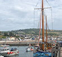 ROS  AILITHER  Tall Masted Boat , Lyme Dorset UK by lynn carter