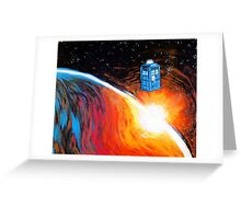 Time Travel Tardis Greeting Card