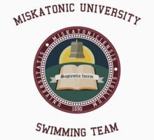 Miskatonic University Swimming Team Shirt Kids Clothes