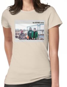old lady photobomb Womens Fitted T-Shirt
