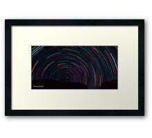 Startrails over Himalyas Framed Print