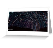Startrails over Himalyas Greeting Card