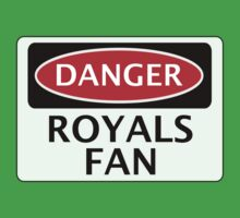DANGER READING, ROYALS FAN, FOOTBALL FUNNY FAKE SAFETY SIGN Kids Tee