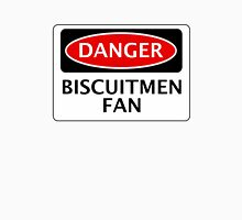 DANGER READING, BISCUITMEN FAN, FOOTBALL FUNNY FAKE SAFETY SIGN Unisex T-Shirt