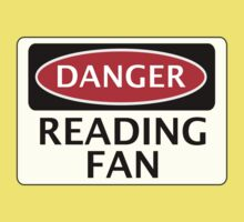 DANGER READING FAN, FOOTBALL FUNNY FAKE SAFETY SIGN Kids Clothes