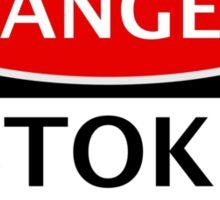 DANGER STOKE CITY, STOKE FAN, FOOTBALL FUNNY FAKE SAFETY SIGN Sticker