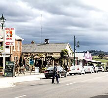 Sheffield Shopfronts, Tasmania, Australia by Elaine Teague