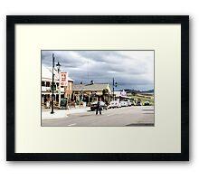 Sheffield Shopfronts, Tasmania, Australia Framed Print
