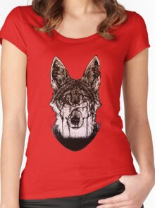 """""""Flood"""" coyote Women's Fitted Scoop T-Shirt"""