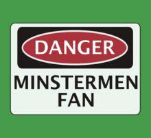 DANGER YORK CITY, MINSTERMEN FAN, FOOTBALL FUNNY FAKE SAFETY SIGN One Piece - Short Sleeve